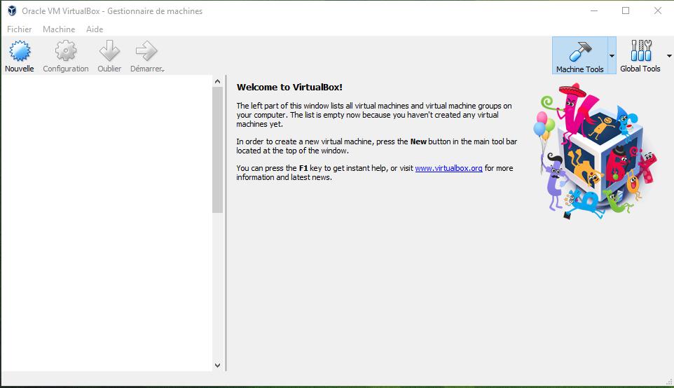 Application VirtualBox